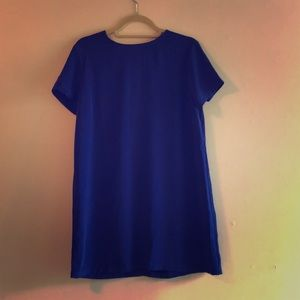Blue Mid-length, Short Sleeve Dress - Forever 21